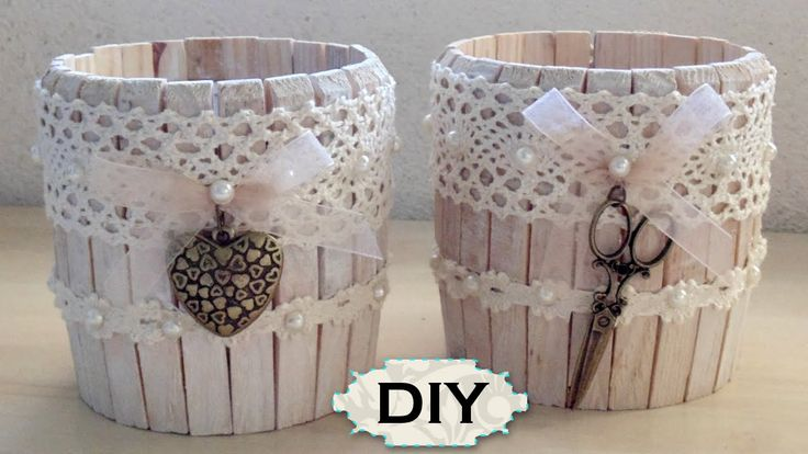 craft tutorial for clothespin jar ♥