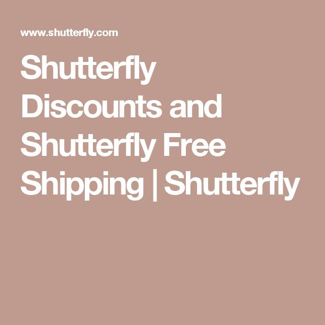 Shutterfly Discounts and Shutterfly Free Shipping | Shutterfly