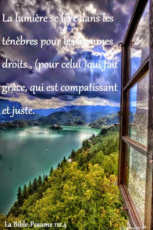 La justice de celui qui craint l'Éternel..... demeure à toujours (Verset 9) * * * Bonjour à tous. ♥ ♥ ♥ Claudine Michau - Google+