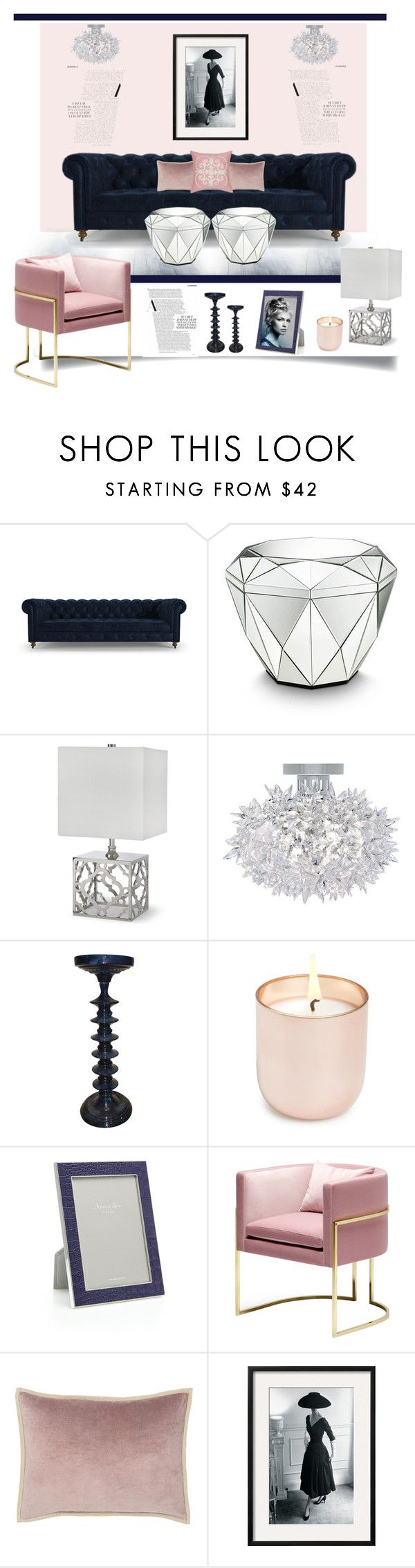 """A Feminine Touch'"" by dianefantasy on Polyvore featuring interior, interiors, interior design, дом, home decor, interior decorating, Joybird Furniture, Clayton, Kartell и Jonathan Adler"