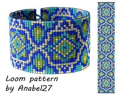 Pattern made with size 11/0 Miyuki Delica seed beads Approx width ...