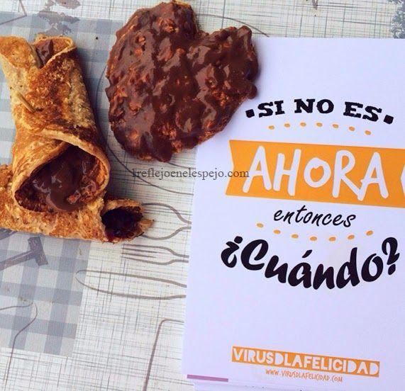 1 REFLEJO EN EL ESPEJO + #VIVESANO +: Palmera de chocolate fit