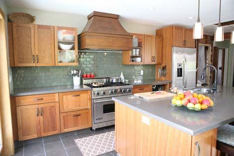 kitchen: Stove, Kitchens Colors, Cabinets Colors, Subway Tile, Quartz Counter