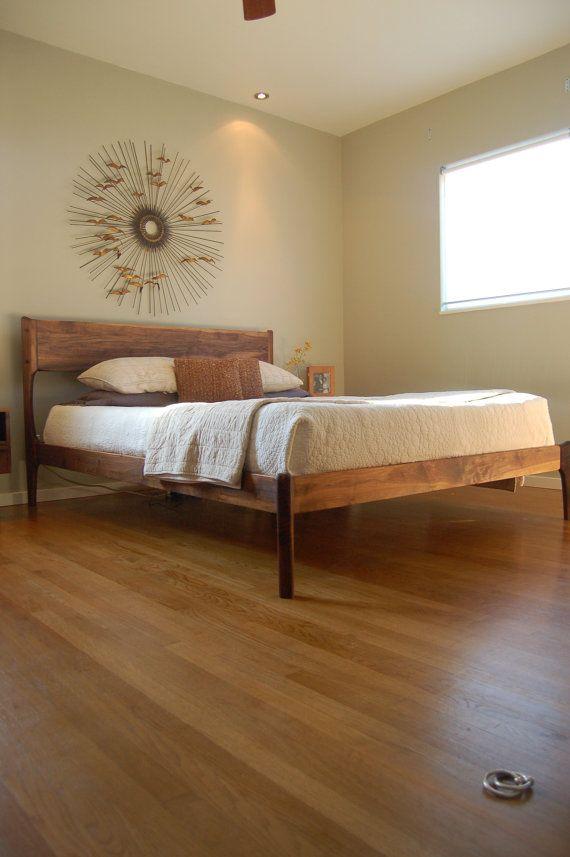 bed: mid century danish modern by FurniturebyPete #uncommongoods