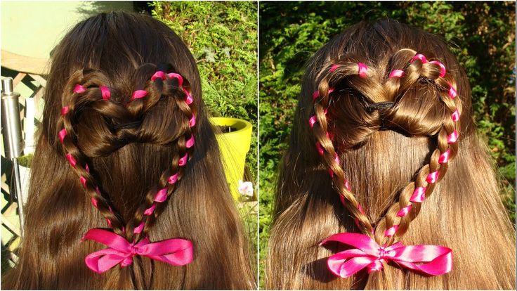 DIY Heart braid with ribbon tutorial