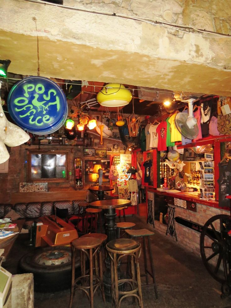 A little souvenir shop in Szimpla Kert, the oldest ruin pub in Budapest.