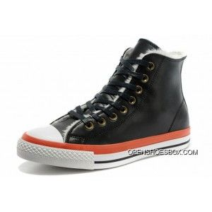 Black Orange Leather Converse Winter Boots Soft Nap Shearling Chuck Taylor All  Star High Tops Copuon Code c42e4d7df