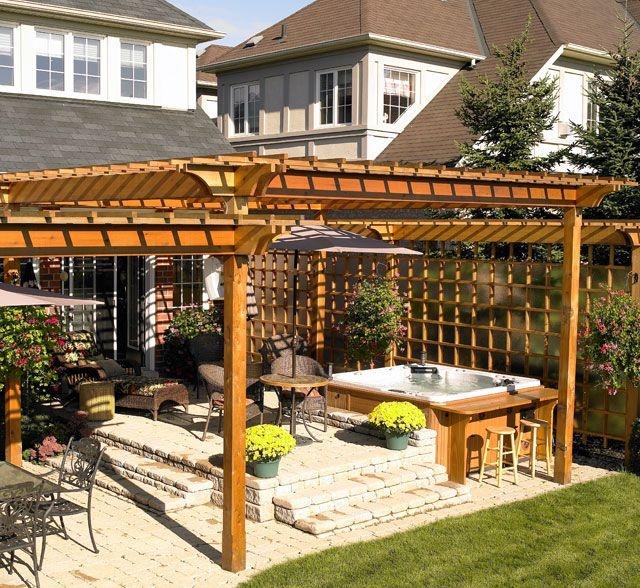 16 best spas extérieur images on Pinterest Backyard ideas, Decks - amenagement jardin avec spa