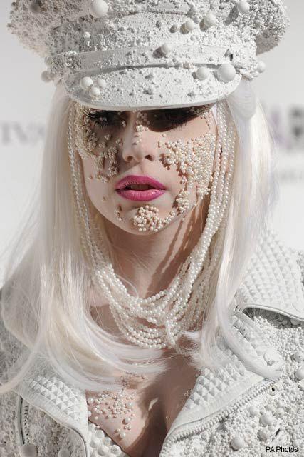 Lady Gaga at the amfAR Gala at New York Fashion Week, 10 February 2010