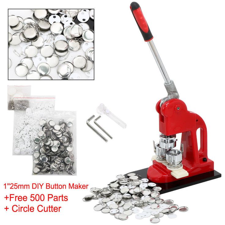 """1"""" 25mm Badge Button Maker Machine Press+ 500 Parts + Circle Cutter US Shipping   Crafts, Multi-Purpose Craft Supplies, Crafting Tools   eBay!"""