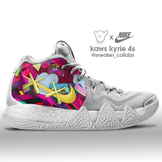 "free shipping 102f4 13fb2 Sneaker Collabs™ on Instagram: ""Nike Kyrie 4 x KAWS (‼️tag ..."