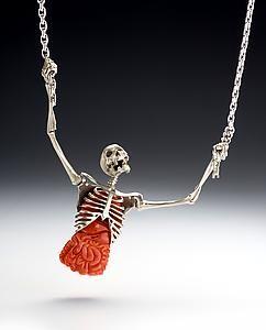 Zombie/skull necklace