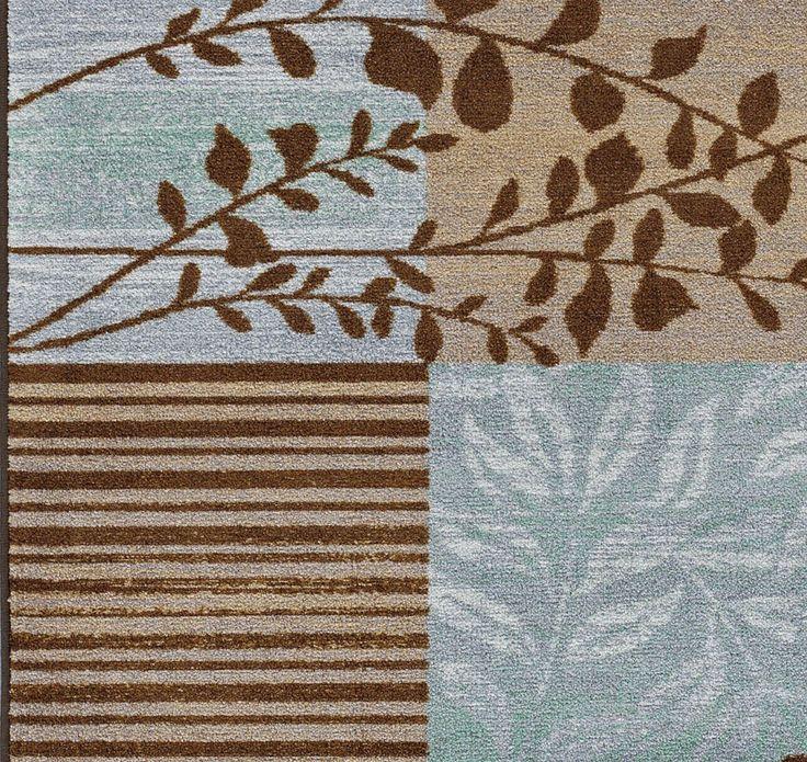 modern 8x10 area rug carpet bluebrown branch 8x108x11 box vines - Area Carpets