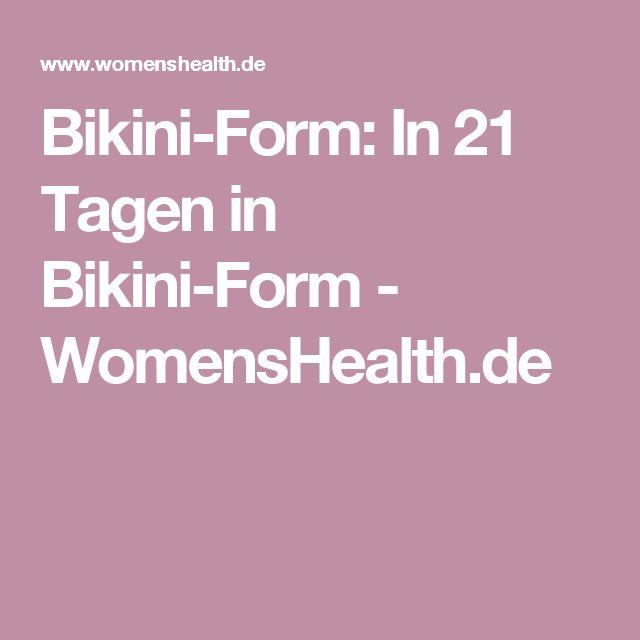 Bikini-Form: In 21 Tagen in Bikini-Form - WomensHealth.de