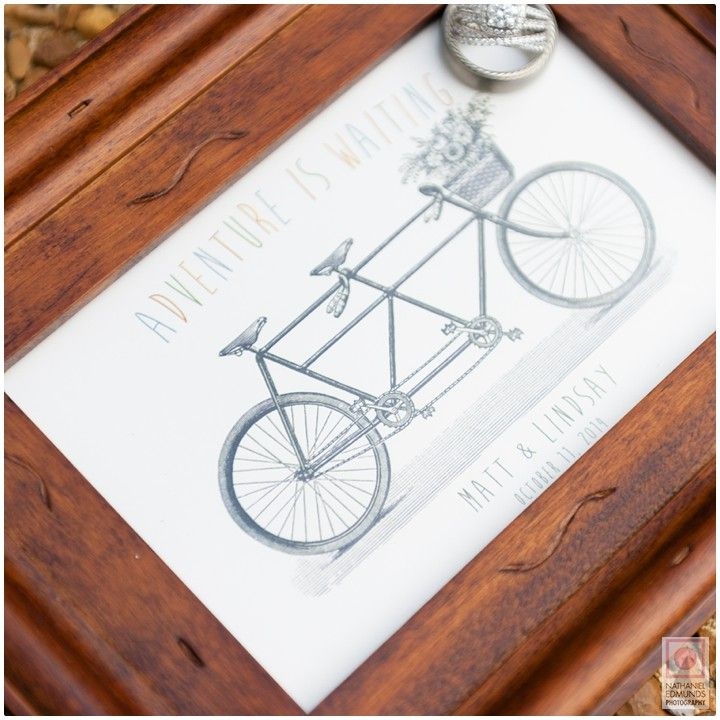 Loving the contrast http://nathanieledmunds.com #biking #rings #wedding #diamond #wood #picture #frame