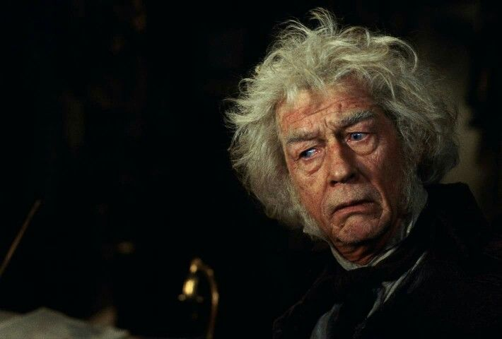 """""""A wand? Well, you want Ollivanders. There ain't no place better!"""" And no better actor to play Mr.Ollivander! Happy birthday John Hurt!"""