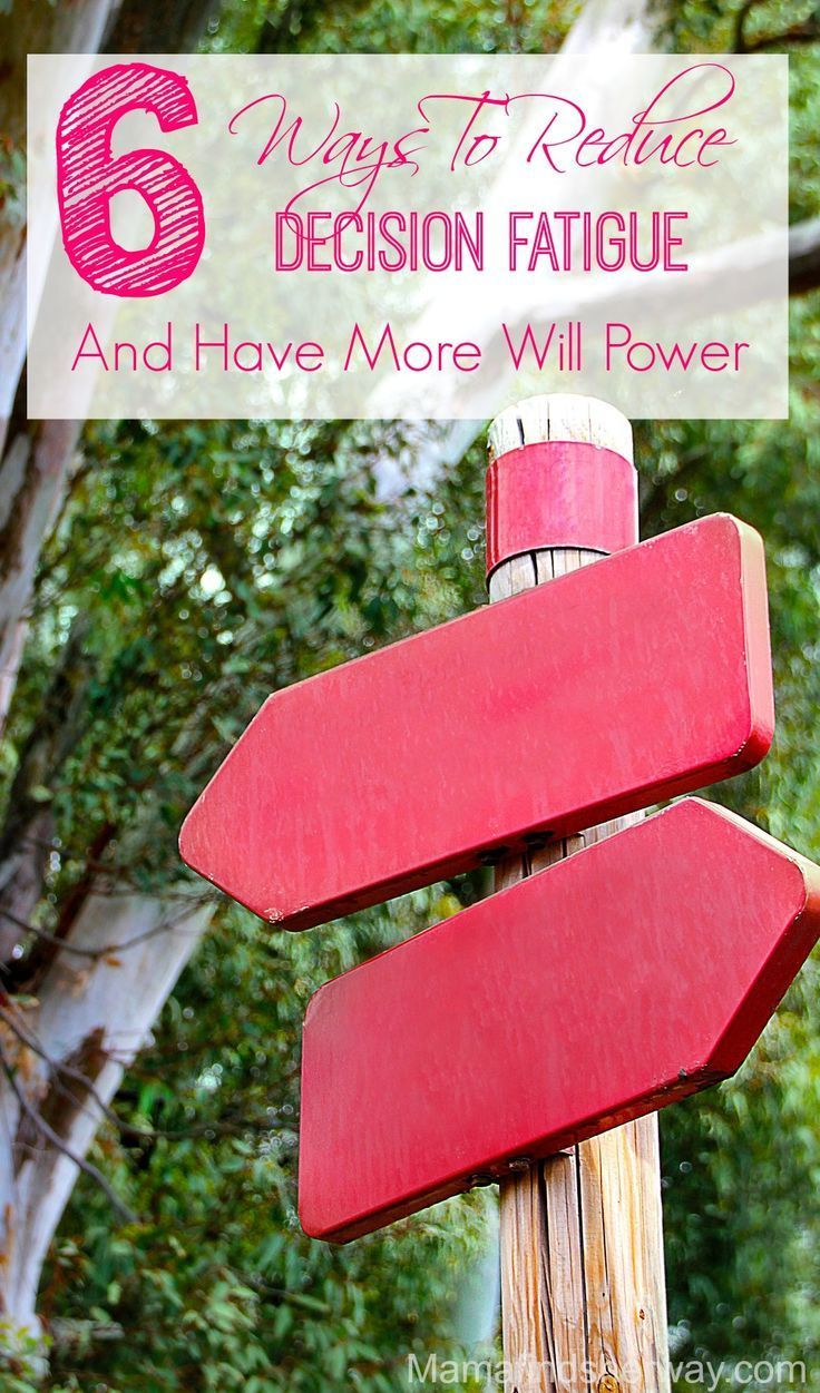 When you make lot's of decisions, eventually the quality of those decisions is going to suffer. This is called decision fatigue. Will power is a finite resource, and in order to harness it, we need to reduce decision fatigue. But how?Mama Finds Her Way