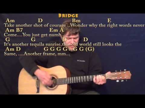 Tequila Sunrise (Eagles) Strum Guitar Cover Lesson with Chords/Lyrics - YouTube