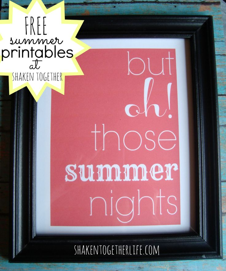 FREE summer printables and a new printer from Staples at shakentogetherlife.com