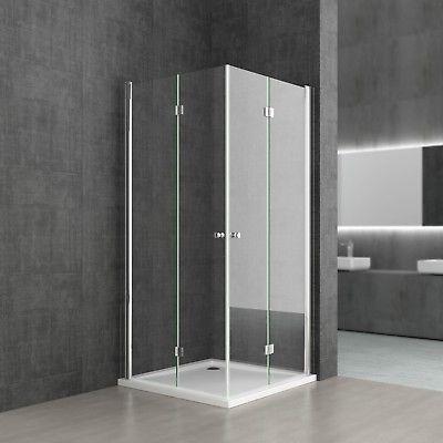 Dusche Duschkabine NANO Eckeinstieg180° Falttür Schwingtür