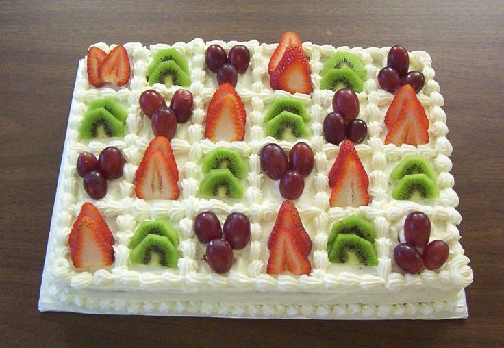 fruit cake decoration - Buscar con Google