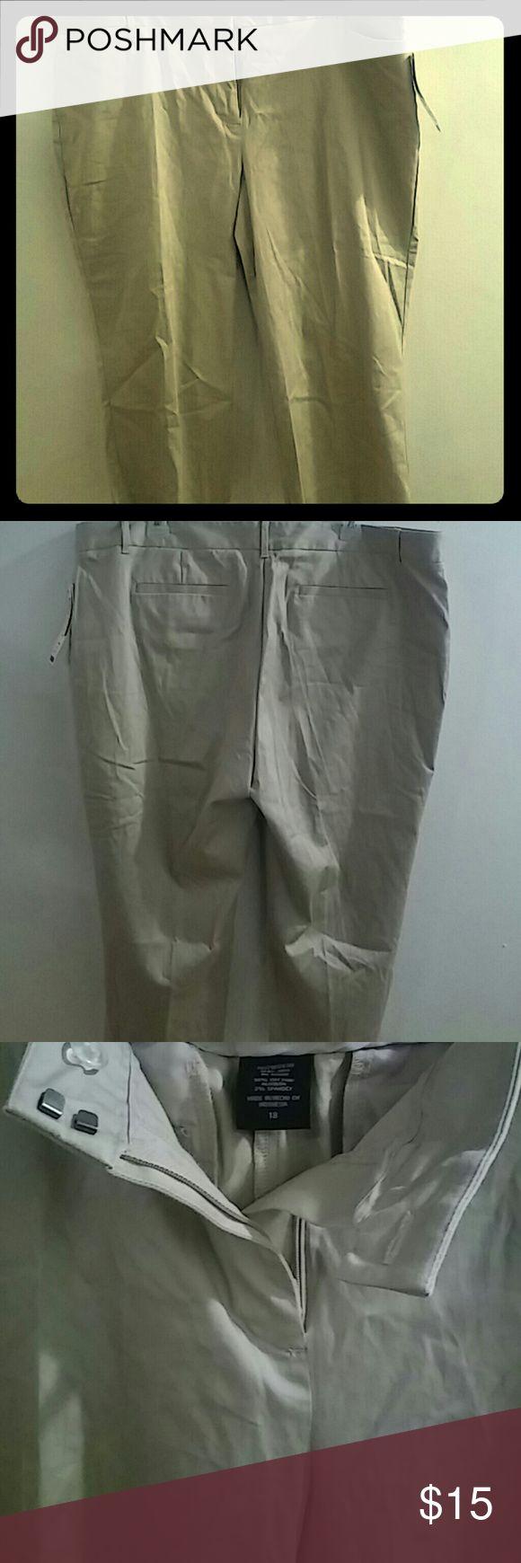 Modern Fit Attention Khaki Capris Mid rise easy fit khaki capris. NWT Modern Fit Pants Capris