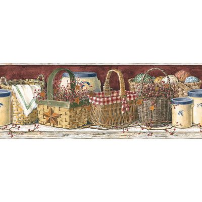 Country Kitchen Wallpaper Border | ... Mural Portfolio II Country Wall On  Weathered Wood