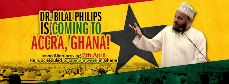 Dr Bilal's Arrival to Ghana on Sunday 7th April 2013