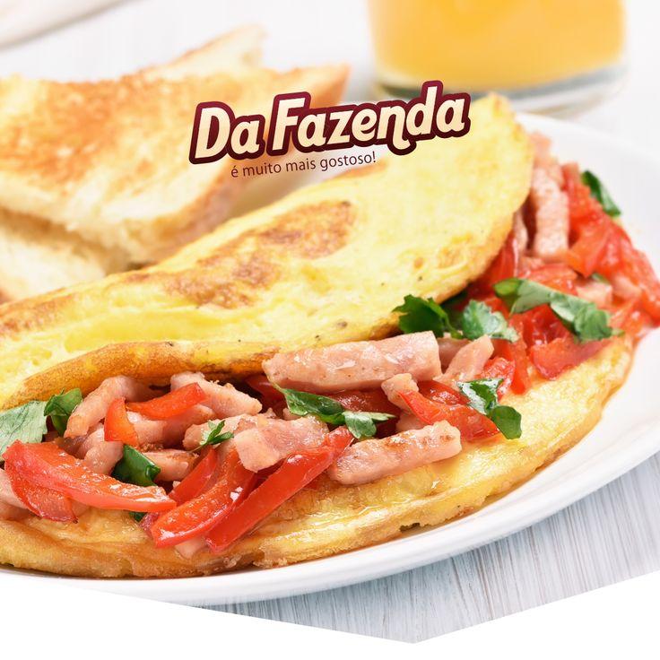 Omelete recheado com Bacon | Da Fazenda