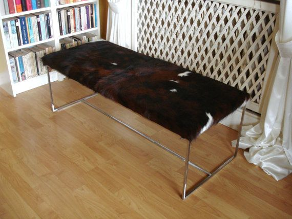 Etsy Cowhide bench bench padding made of genuine cowhide by MoxBelox $792