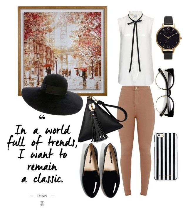 """""""Summer to Fall outfit"""" by chrysapan on Polyvore featuring Frame Denim, MICHAEL Michael Kors, Olivia Burton and Eugenia Kim"""