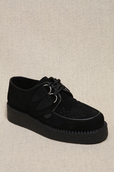 Underground Shoes Black Suede Creepers