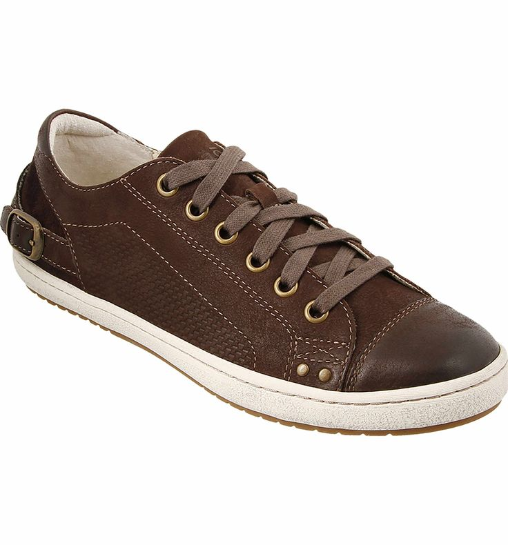 Taos Capitol Sneaker, chocolate leather, size 10