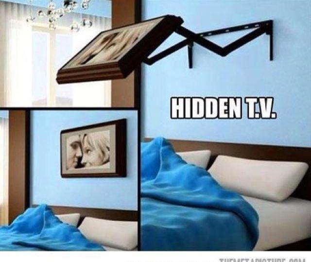 Hidden tv for bedroom