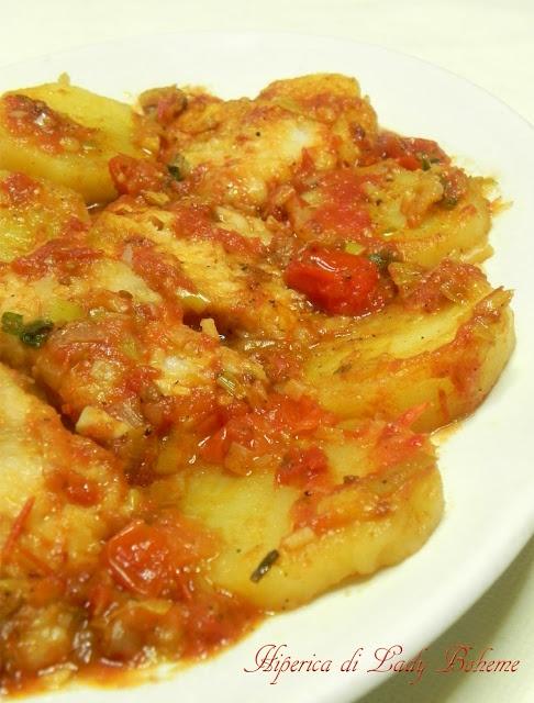 Italian Food - Baccalà con i porri e patate