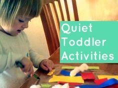5 Quiet Toddler Activities