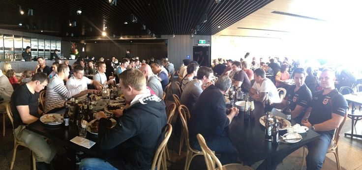 St George Rugby League Team enjoying our restaurant.