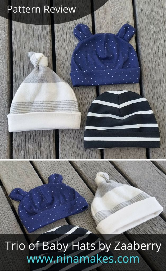 Pattern Review - Trio of Baby Hats by Zaaberry - Nina Makes