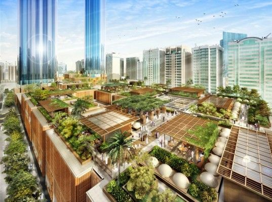 Foster + Partners' Aldar Central Market Adds a Vibrant Green Roof to Abu Dhabi | Inhabitat - Sustainable Design Innovation, Eco Architecture, Green Building