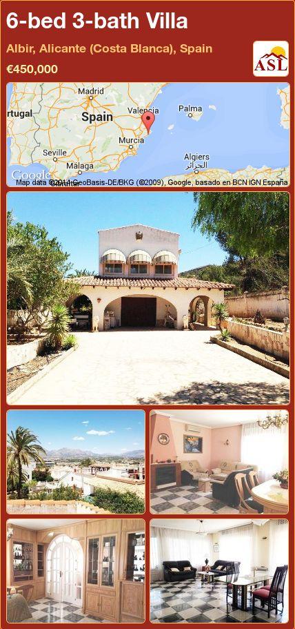 6-bed 3-bath Villa in Albir, Alicante (Costa Blanca), Spain ►€450,000 #PropertyForSaleInSpain