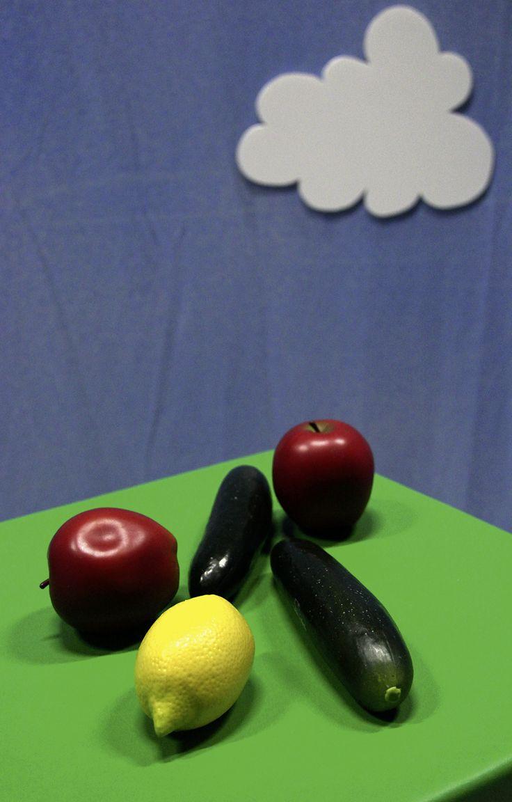 Rytminstrument, som även kallas för fruktshakers. Fotograf Linda Sinkkonen. #lapprickapappricka #citron #gurka #apple