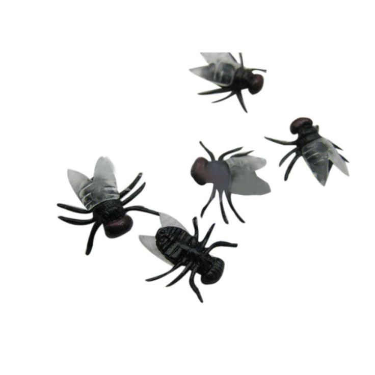 halloween decorations and props 20 PC Halloween Plastic Flys Joking Toys Decoration Realistic mascaras de latex realista