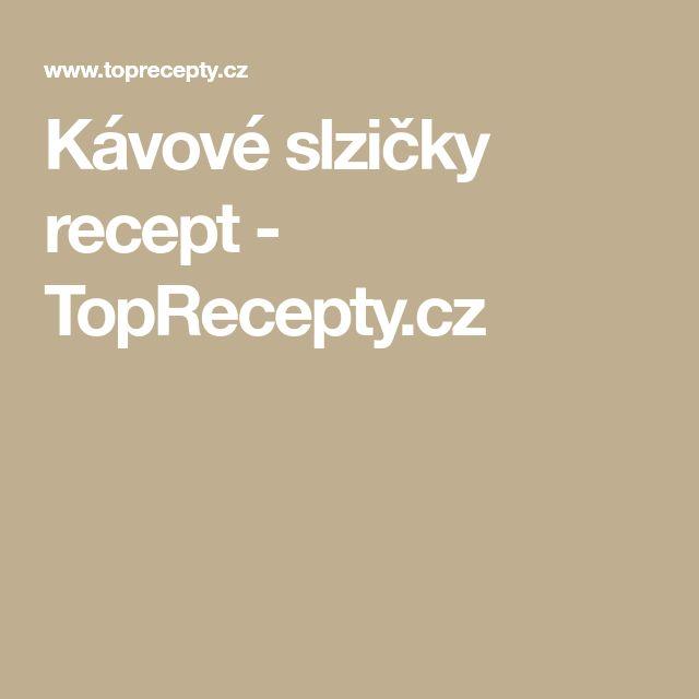 Kávové slzičky recept - TopRecepty.cz