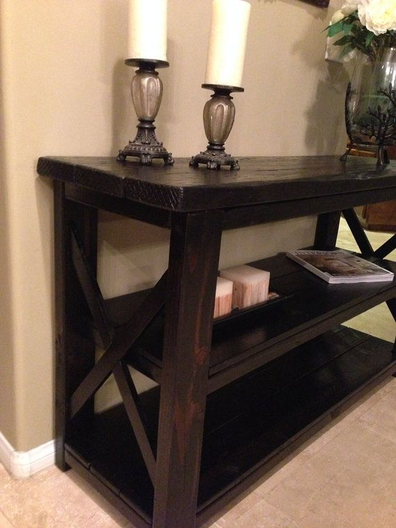 Custom Reclaimed Repurposed Wooden Entrance Table by WCSD on Etsy