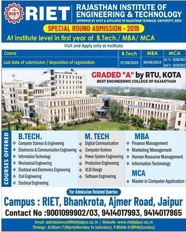 Riet Jaipur Top Colleges In Jaipur Engineering Colleges Department Of Mechanical Engineering Department Of Civil Engineering