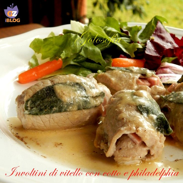 Involtini di vitello con cotto e philadelphia-ricetta secondi-golosofia