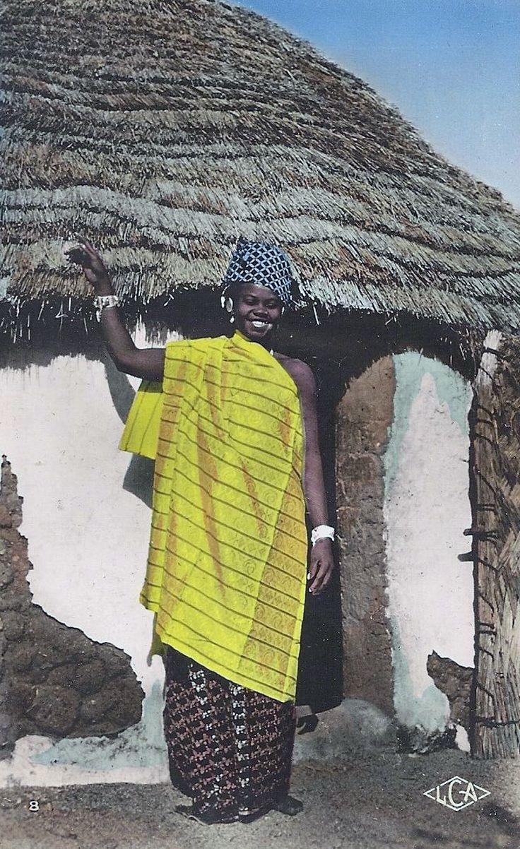 "Africa | ""Jeune Femme Foulbé"". Binder, Chad || Vintage postcard; photo Robert Carmet."