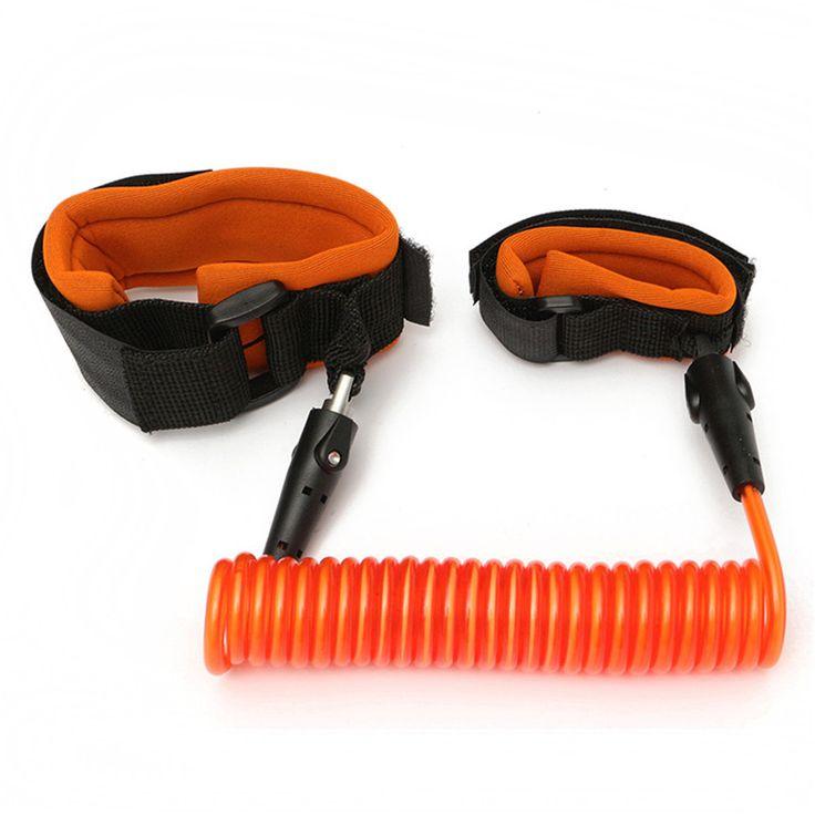 Orange PU & Stainless Steel Kontraksi Balita Keselamatan Harness Anak Anak Keselamatan Wrist Link anti-hilang Sabuk Adjustable