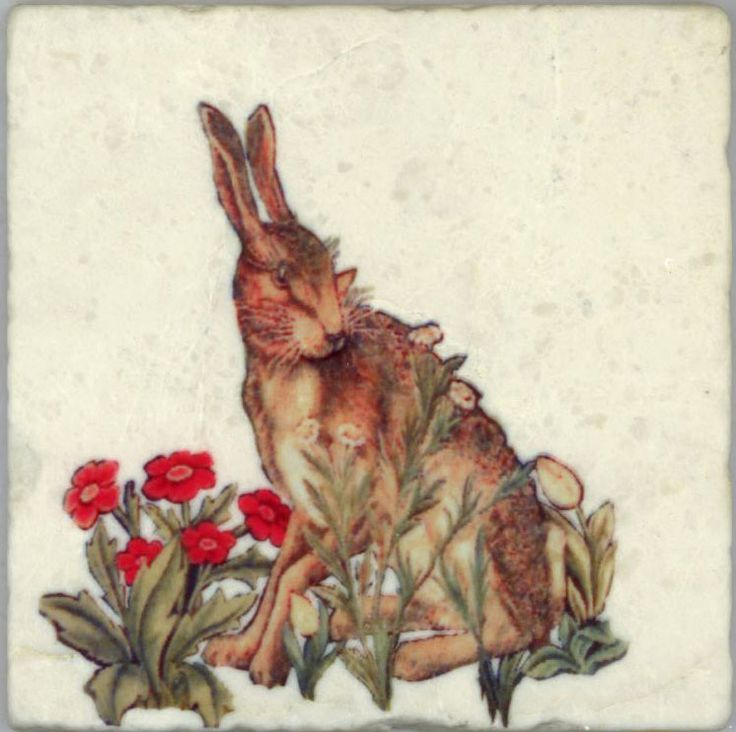 Hare tile, William Morris 'The Forest'