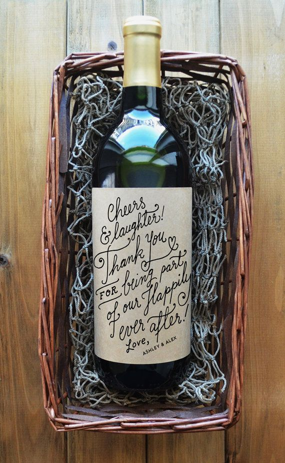 Best 25 wedding wine labels ideas on pinterest asking to be thank you wine labels wedding wine label wedding wine bottle label pack of 4 solutioingenieria Choice Image
